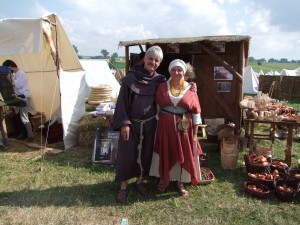Mariusz Wollny z żoną